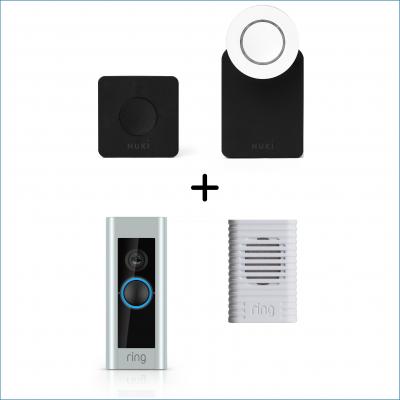 Nuki combo met ring pro, slim deurslot, smartlock en smart doorbell