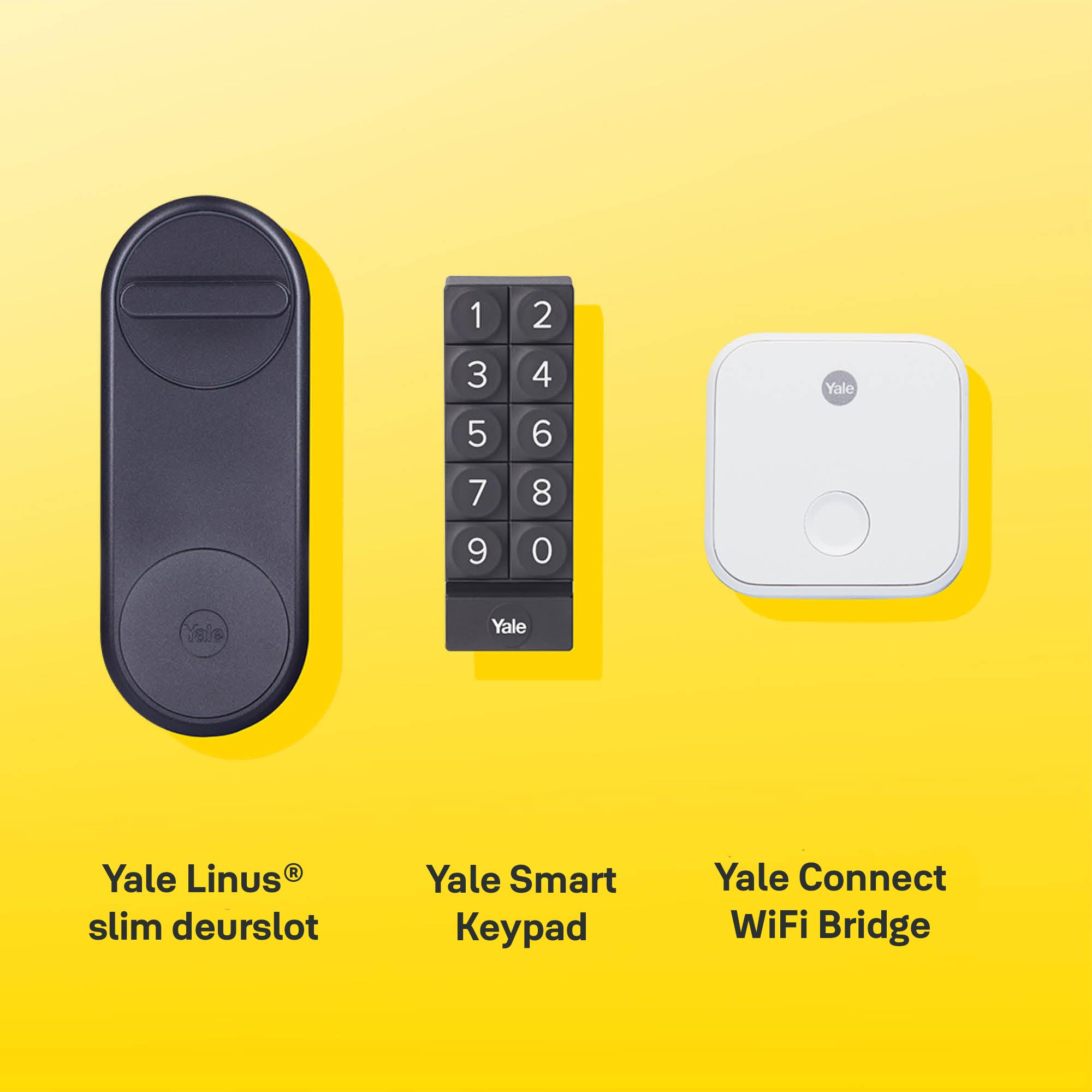 Yale Linus, slim deurslot, smartlock, bnb, toegang op afstand, pincode